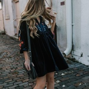 Gorgeous Velvet and Embroidered Chicwish Dress
